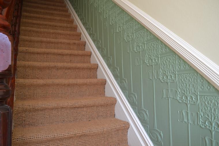 Lincrusta Art Nouveau Staircase